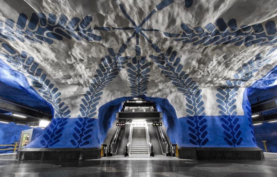 20 estações de metrô surpreendentes, Estação T- Centralen © Alexander Dragunov