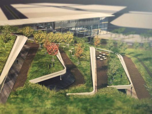 GOLD: Eco-Techno Park: Green building showcase and enterprise hub. Image Courtesy of Holcim Foundation