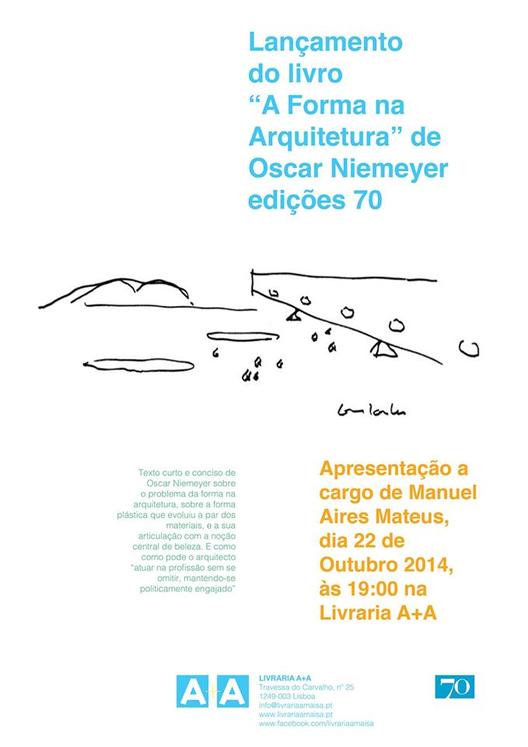 """Lançamento do livro """"A forma na Arquitetura"""" de Oscar Niemeyer, em Lisboa"""