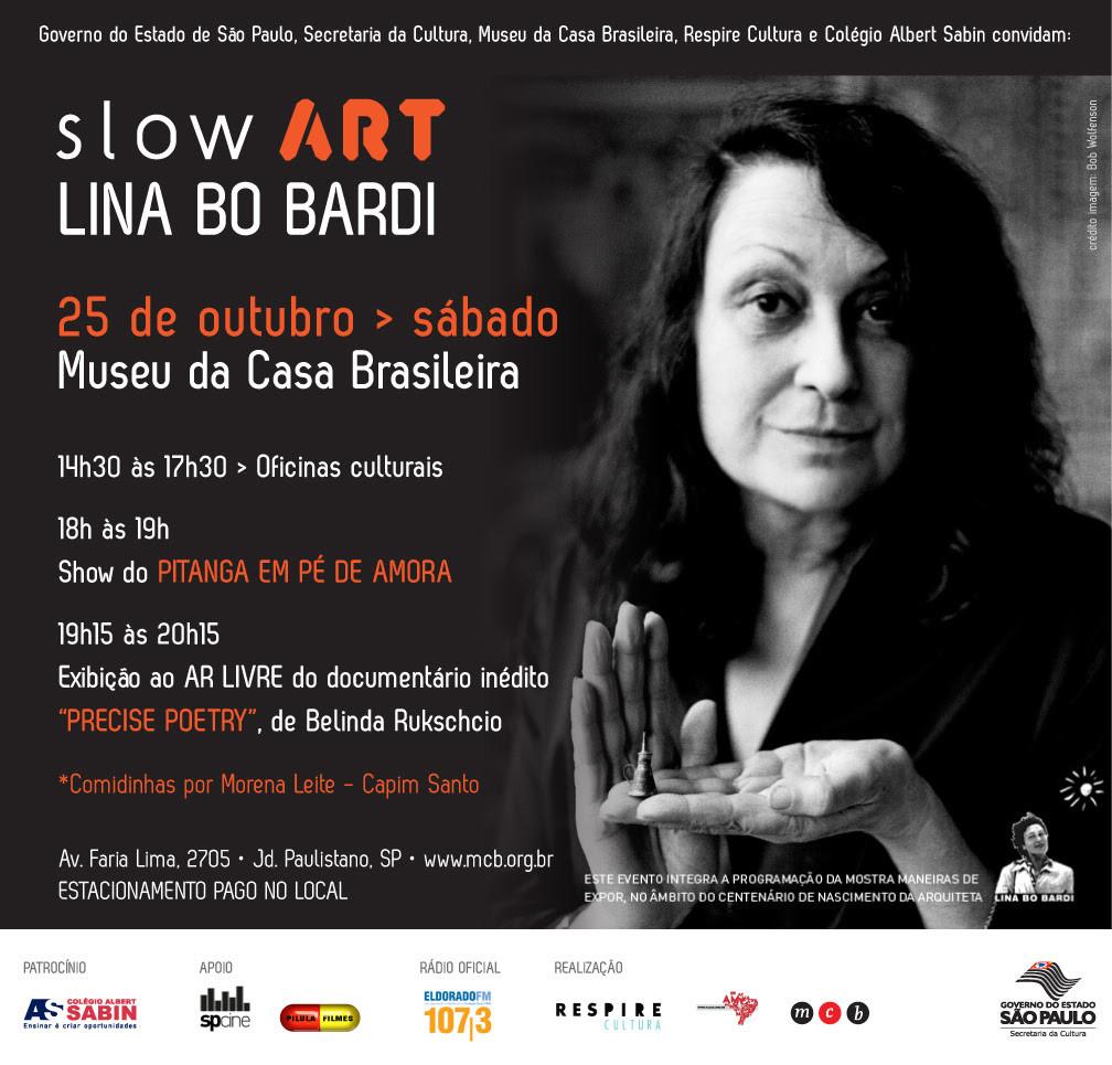 """SlowArt – Lina Bo Bardi"" no Museu da Casa Brasileira, Cortesia de Museu da Casa Brasileira"