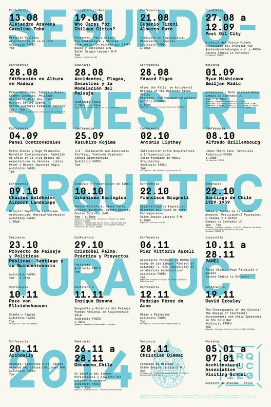 Conferencias Arquitectura UC 2º Semestre 2014 / Santiago, Chile
