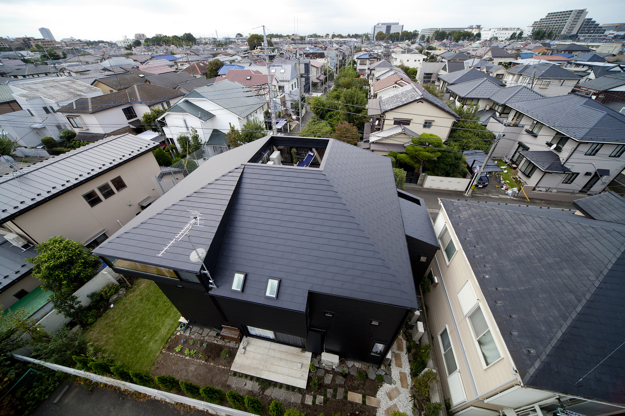Concave Roof House No 2 Jun Yashiki Amp Associates Archdaily