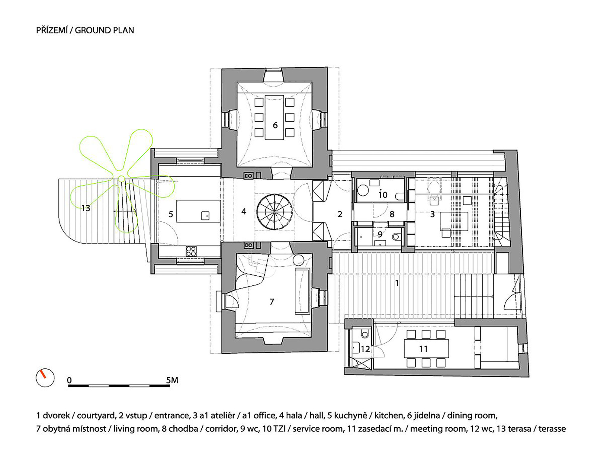 A1 House / A1Architects. 29 / 32. Ground Floor Plan