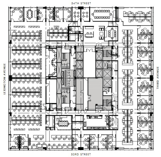 Floor Plan Office Gallery Of Ad Classics Citigroup Center