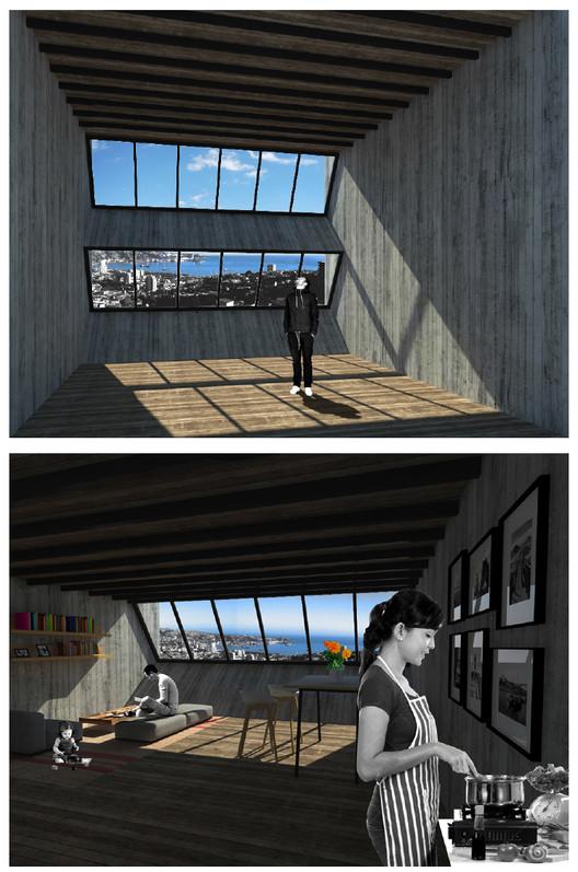Propuesta de Cristián Boza para reconstrucción de Valparaíso post incendio, Cortesia de Cristian Boza