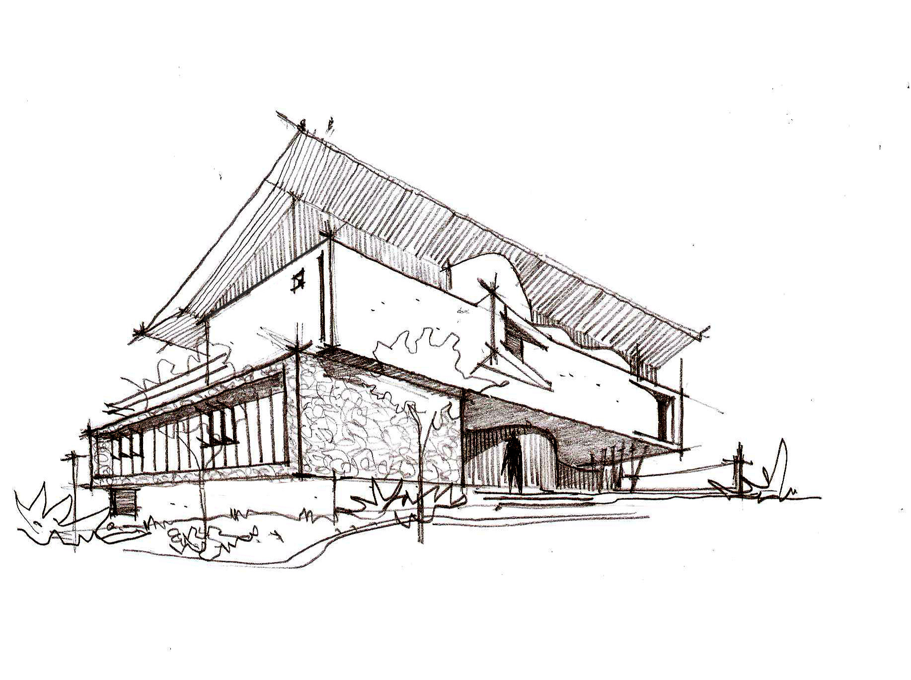 architecture house sketch. Plain Sketch Architectu0027s HouseSketch Throughout Architecture House Sketch