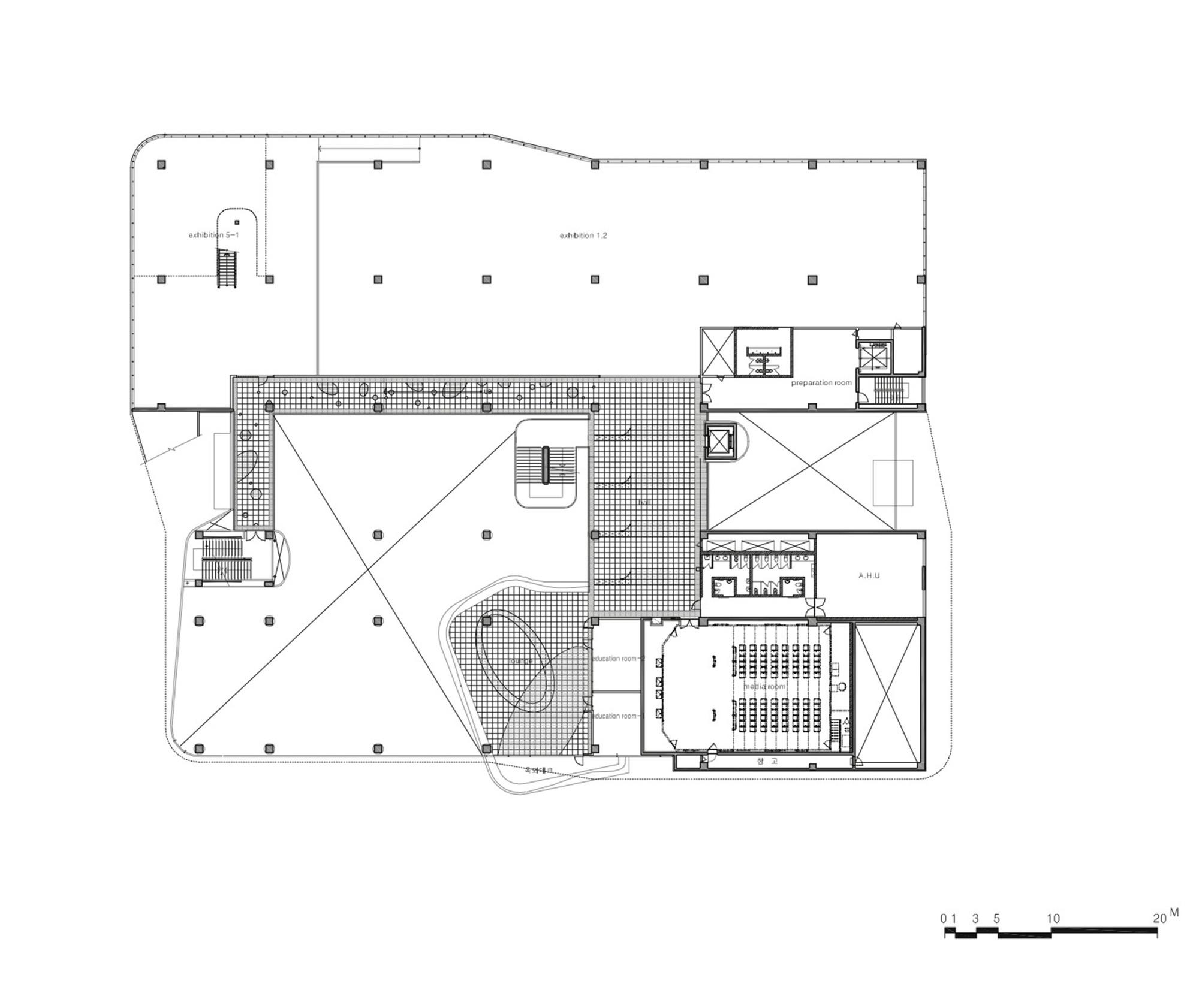 D Exhibition Floor Plan : Gallery of incheon children science museum haeahn