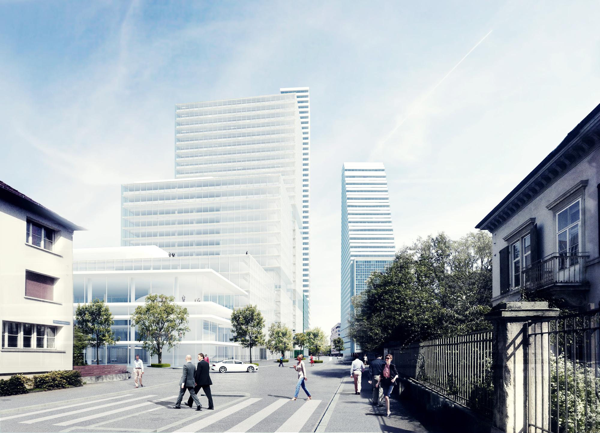 Herzog & de Meuron diseña una torre de 205 metros y un Centro de Investigación para una compañía farmacéutica suiza, © Herzog & de Meuron