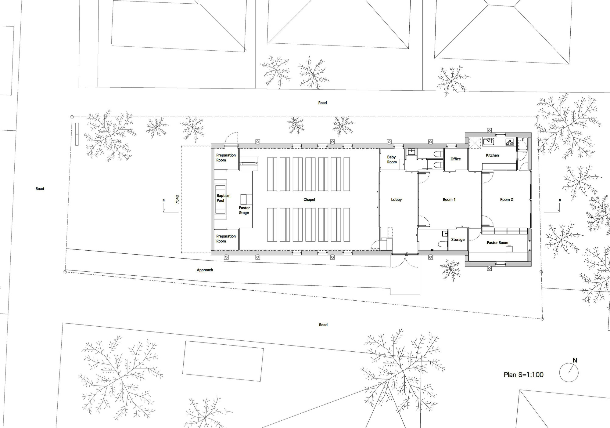 shonan christ church takeshi hosaka archdaily floor plan