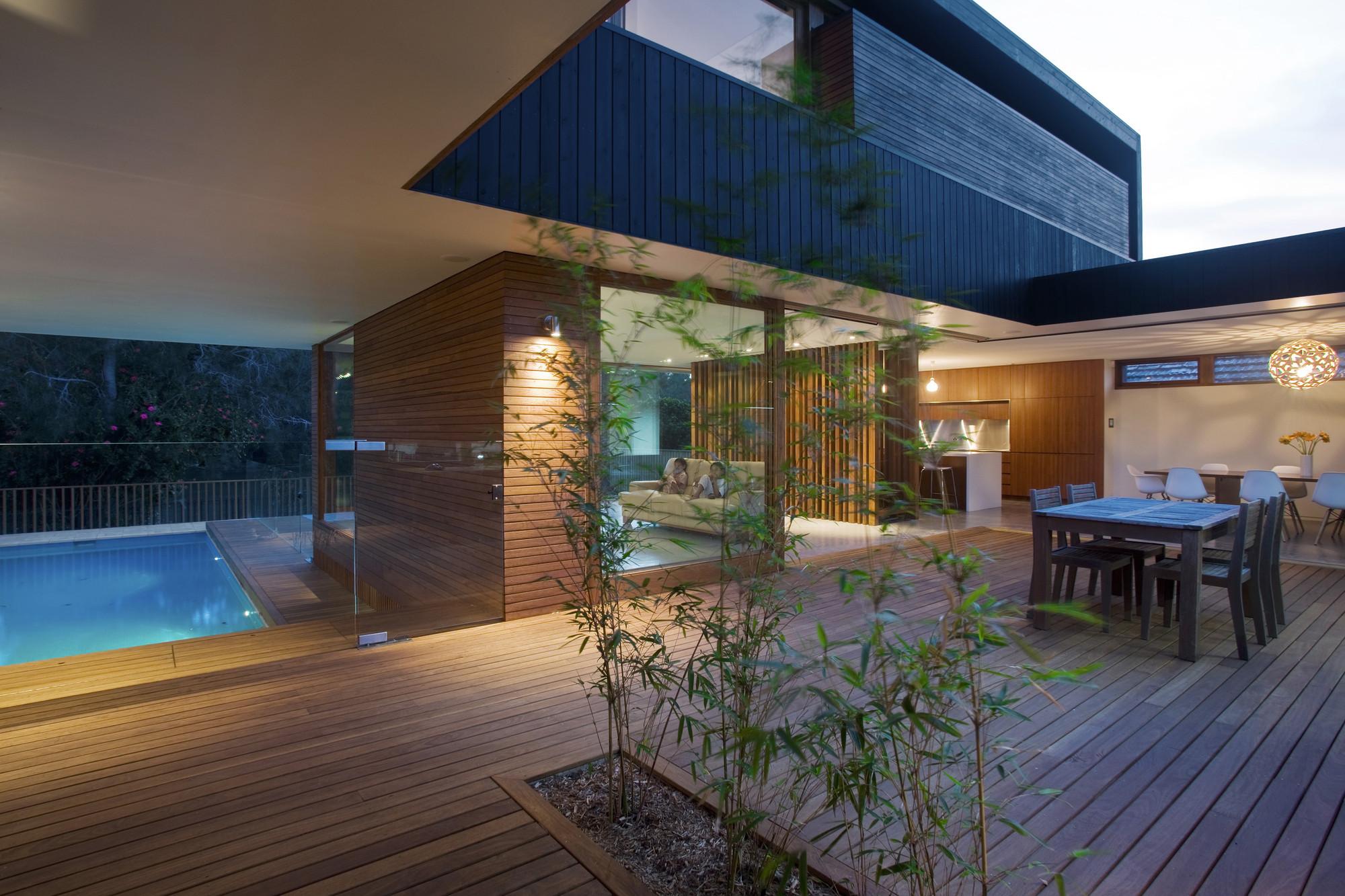 Casa narrabeen chrofi archdaily m xico for Casa moderna con jardin interior