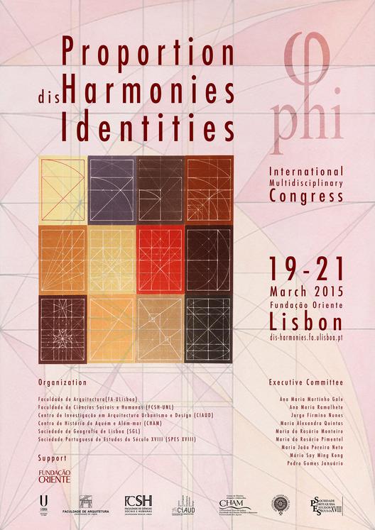 Chamada de trabalhos para o Congresso Internacional Pluridisciplinar: Proporção (des)harmonias e identidades – PHI