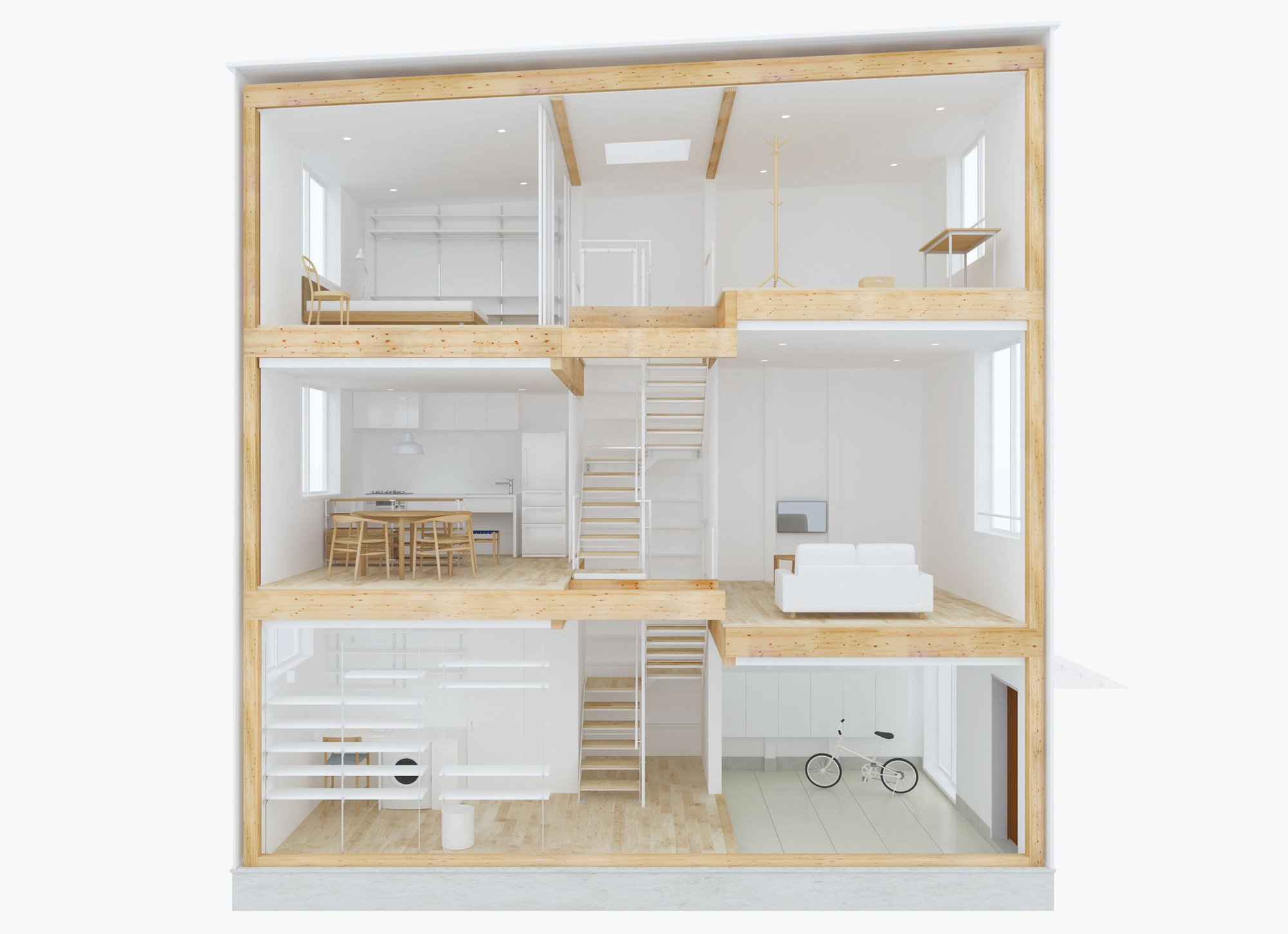 Design Your Own Home With MUJIu0027s Prefab Vertical House,Courtesy Of MUJI