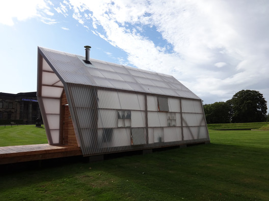 The Bothy Project - Pig Rock Bothy. Scottish National Gallery of Modern Art, Edinburgh, Scotland. 2014. Image Courtesy of The Building Centre