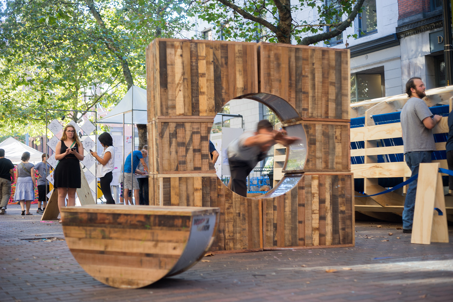 "Get Playful on the Streets of Seattle with ""Pop-Up! Street Furniture"" from LMN Architects, © Trevor Dykstra"