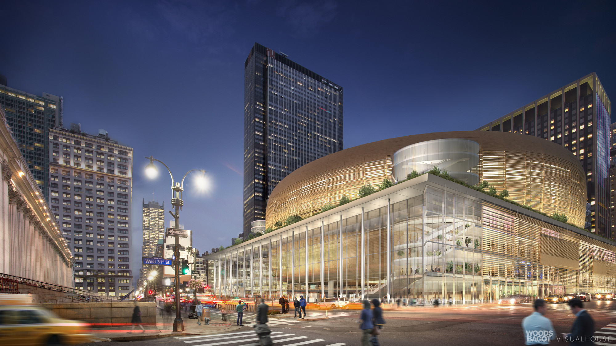 Woods Bagot 39 S Alternative Penn Station Solution Would Keep Madison Square Garden Archdaily