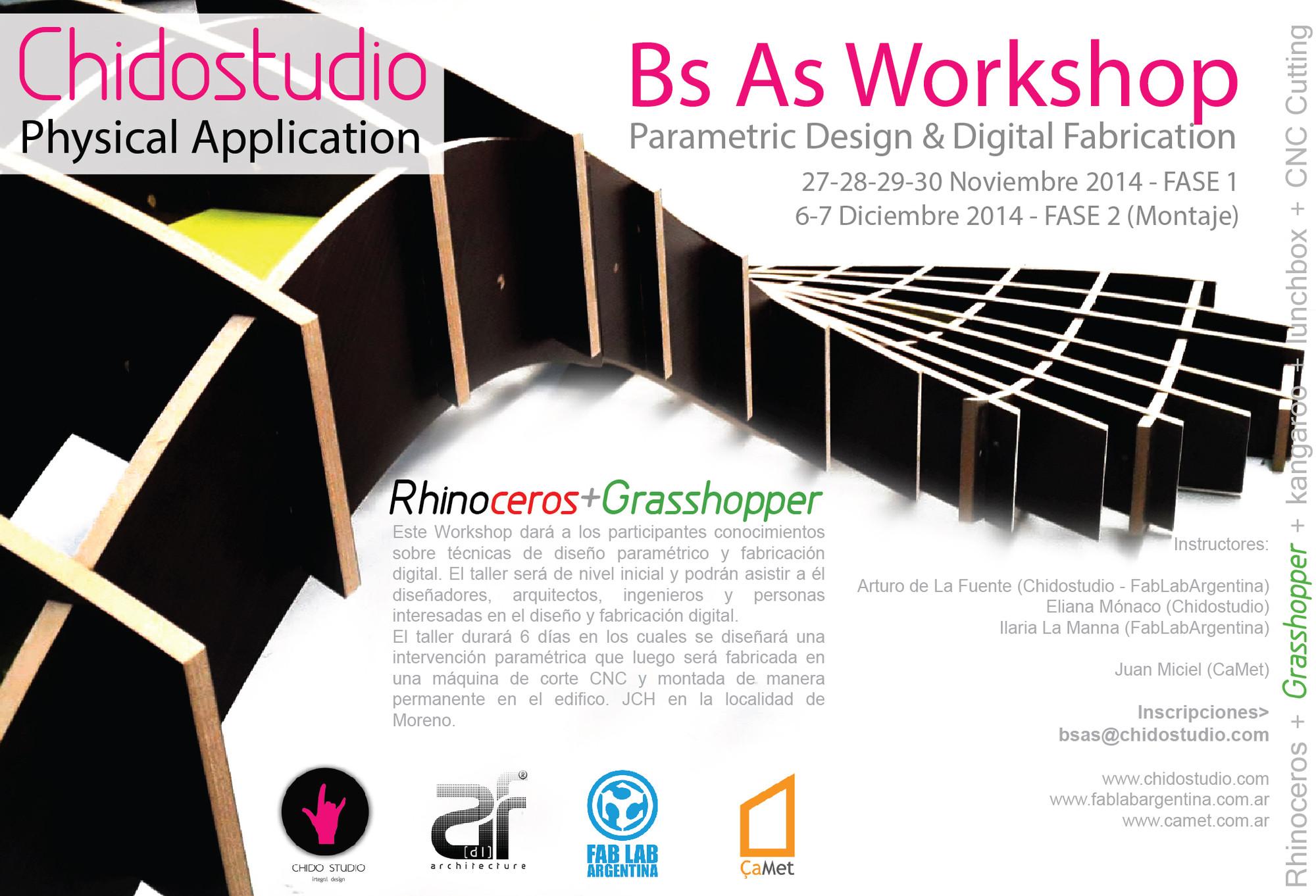 Chidostudio: Bs As Workshop Parametric Design & Digital Fabrication / ¡Sorteamos un cupo!