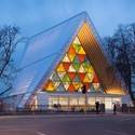 Acting as Christchurch's cathedral until the actual cathedral is rebuilt, Shigeru Ban's Cardboard structure has been hugely popular. Image © Bridgit Anderson