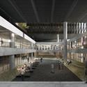 Vista da praça. Image Cortesia de Cortesia de Equipe do projeto