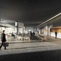 Vista do hall. Image Cortesia de Cortesia de Equipe do projeto