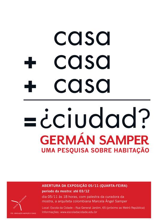 Escola da Cidade promove exposição sobre Germán Samper, Cortesia de Escola da Cidade