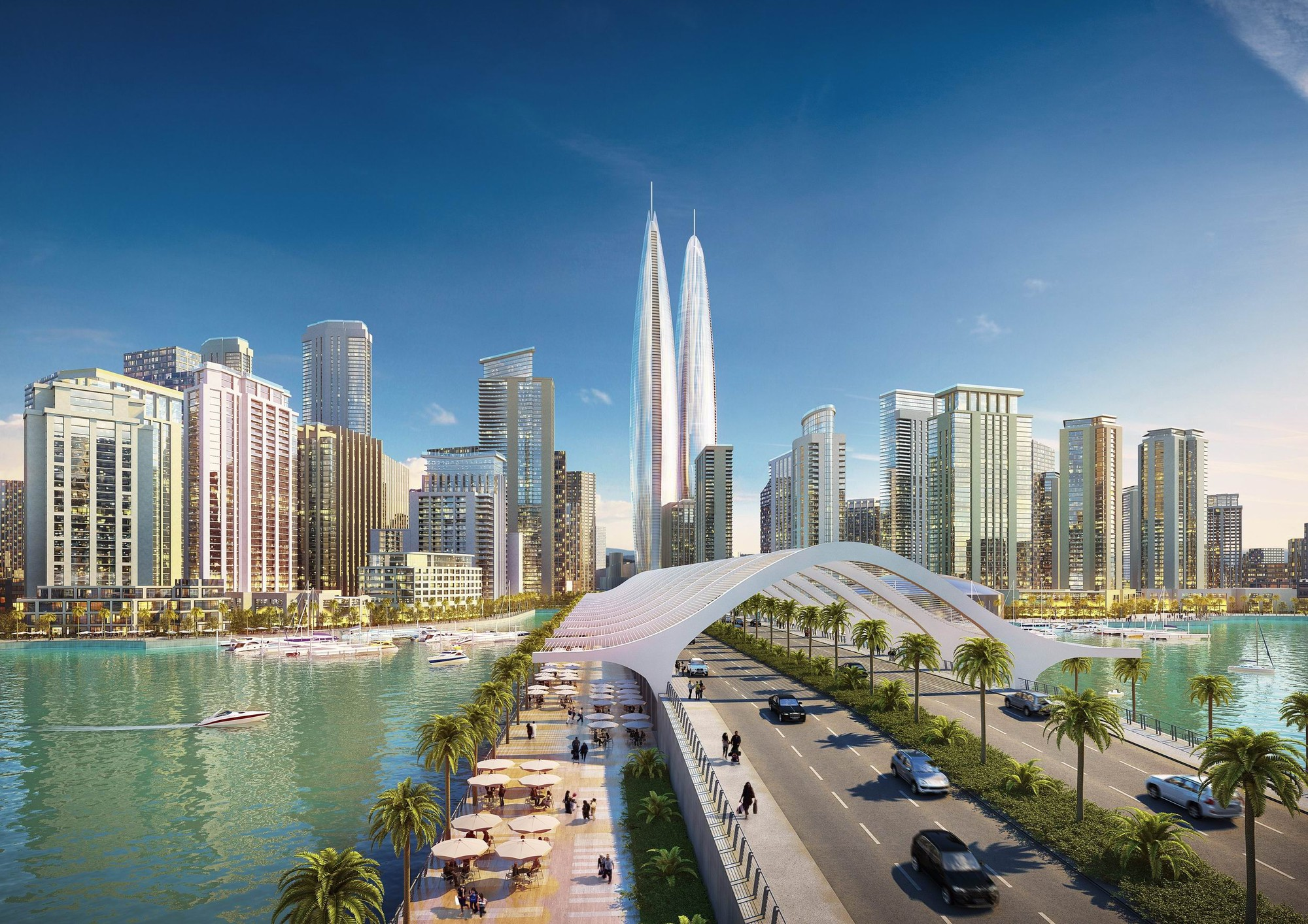 Dubai terá as torres gêmeas mais altas do mundo, © Emaar Properties and Dubai Holding; Cortesia de Gizmodo