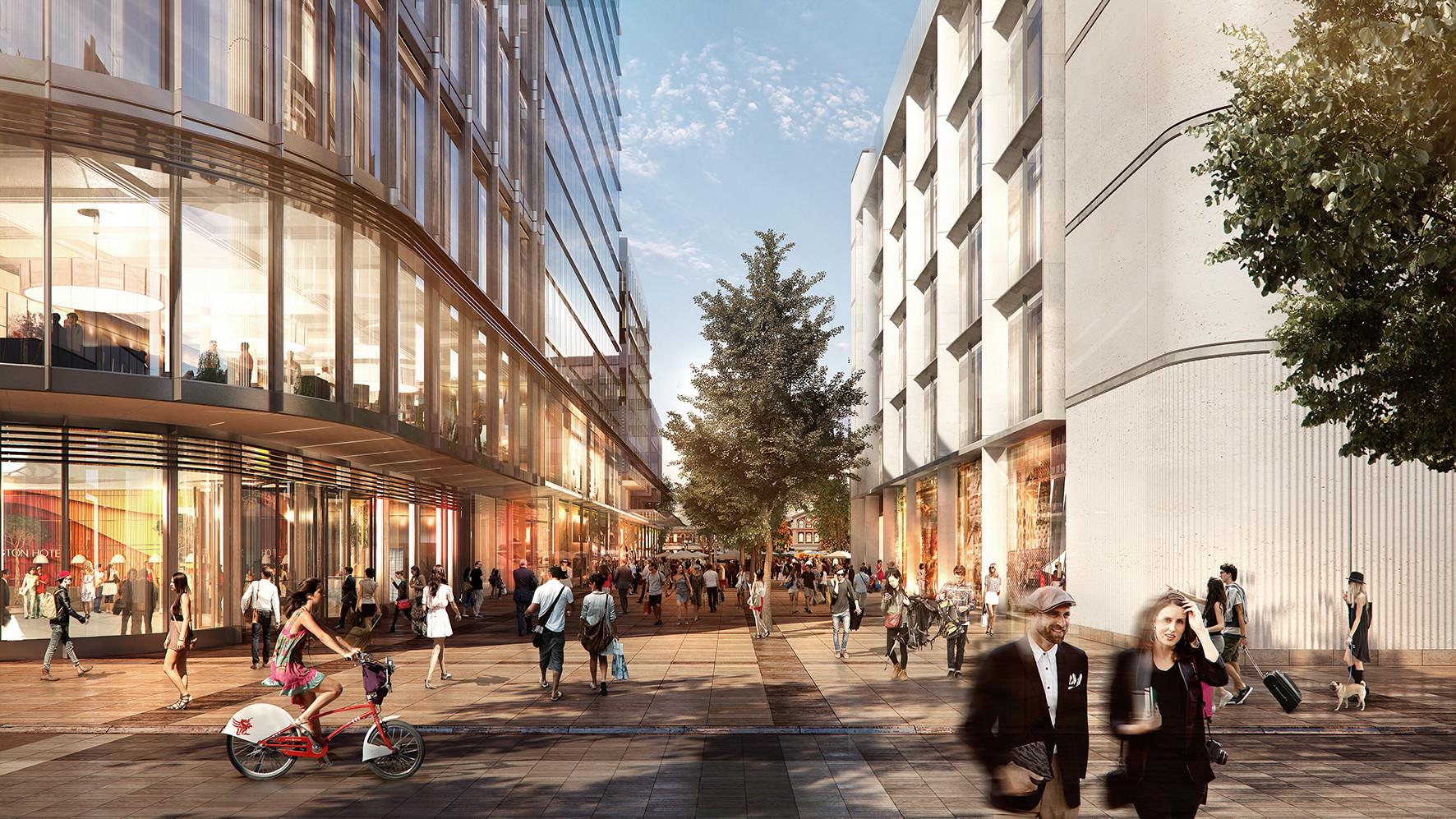 Foster + Partners revela el plan maestro de la plaza Cardiff Central Square