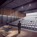 Vista do auditório. Image Cortesia de Equipe do projeto