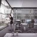 Vista do escritório. Image Cortesia de Equipe do projeto
