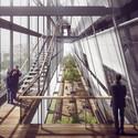 Vista da passarela. Image Cortesia de Equipe do projeto