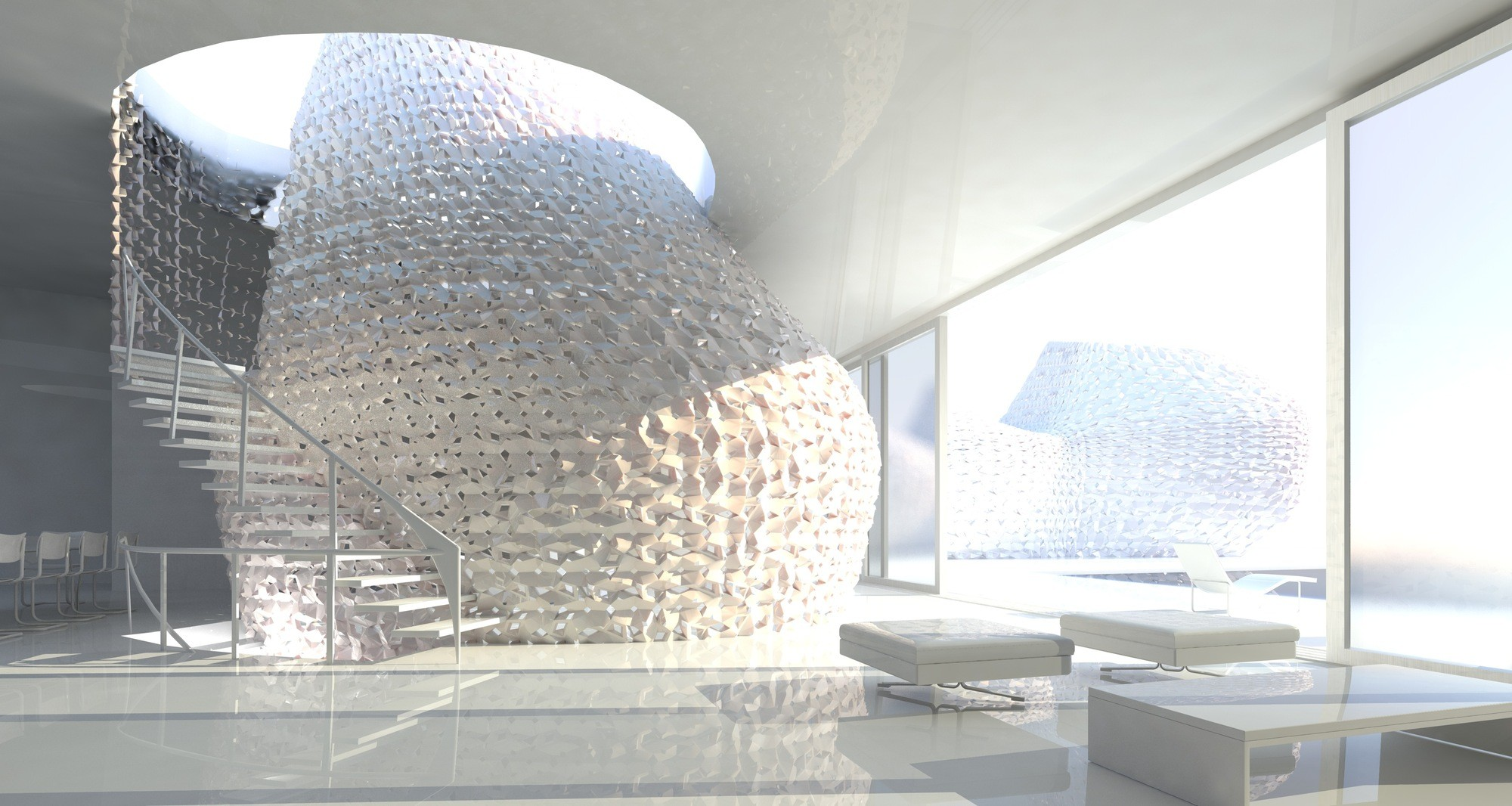 Autodesk Announces $100 Million Investment in 3D Printing, Many groups are working on innovative 3D Printing technologies, such as Emerging Objects' designs for a 3D printed house made from locally harvested salt. Image Courtesy of Emerging Objects