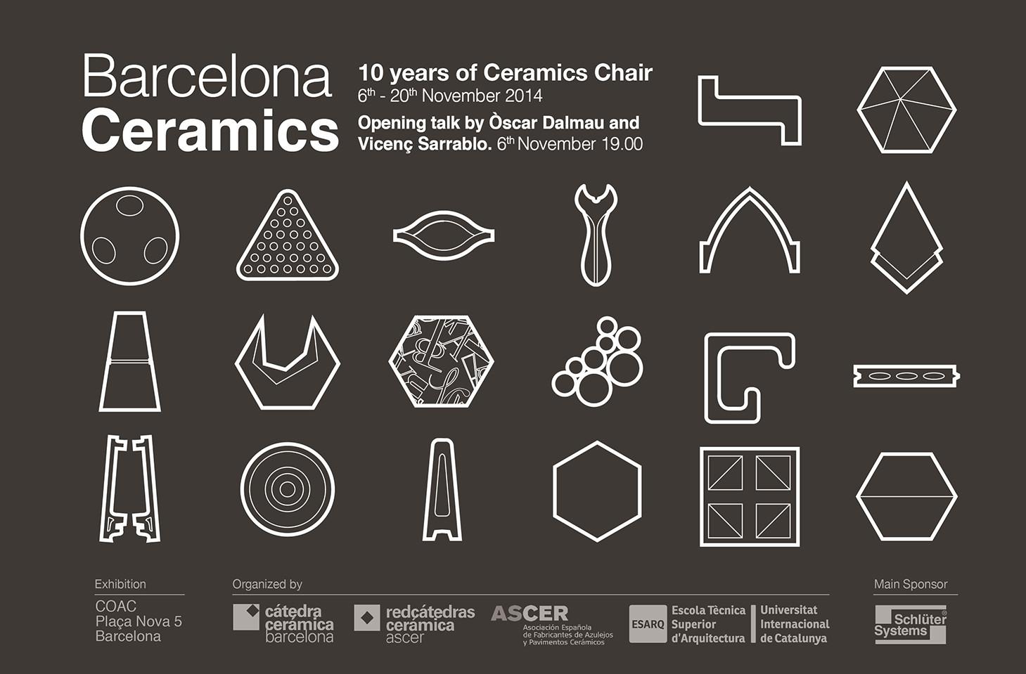 Exposición 'Barcelona Ceramics, 10 años de la Cátedra Cerámica' / Barcelona