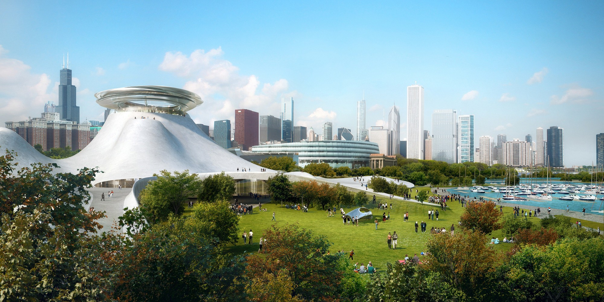 MAD Architects Unveils Mountainous Design for Lucas Museum in Chicago, Courtesy of Lucas Museum of Narrative Arts