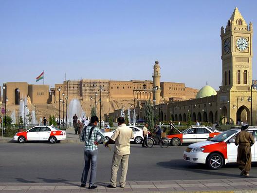 Erbil Citadel under reconstruction. Image © David Stanley via Wikipedia