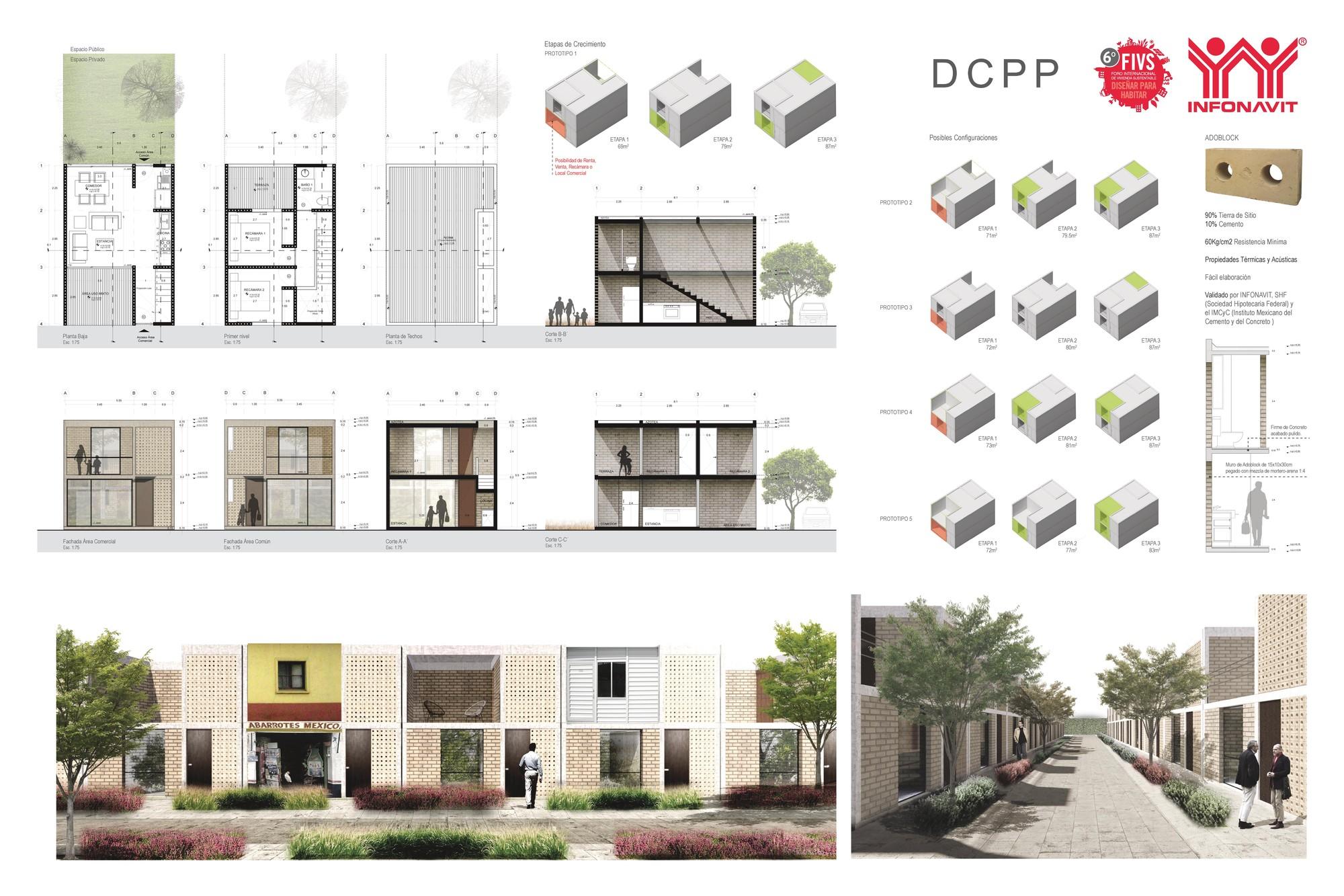 Galer a de vivienda unifamiliar regional 32 entidades for Casa vivienda jardin pdf