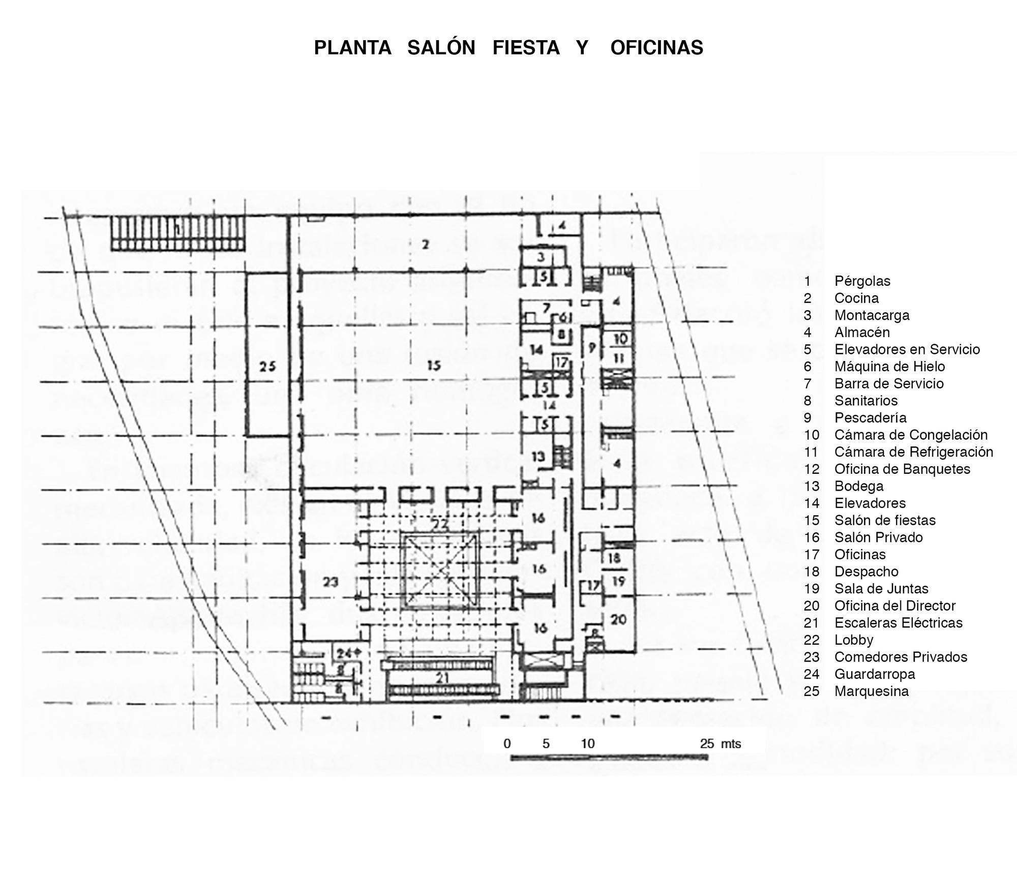 Galer a de cl sicos de arquitectura hotel presidente for Plantas de oficinas arquitectura
