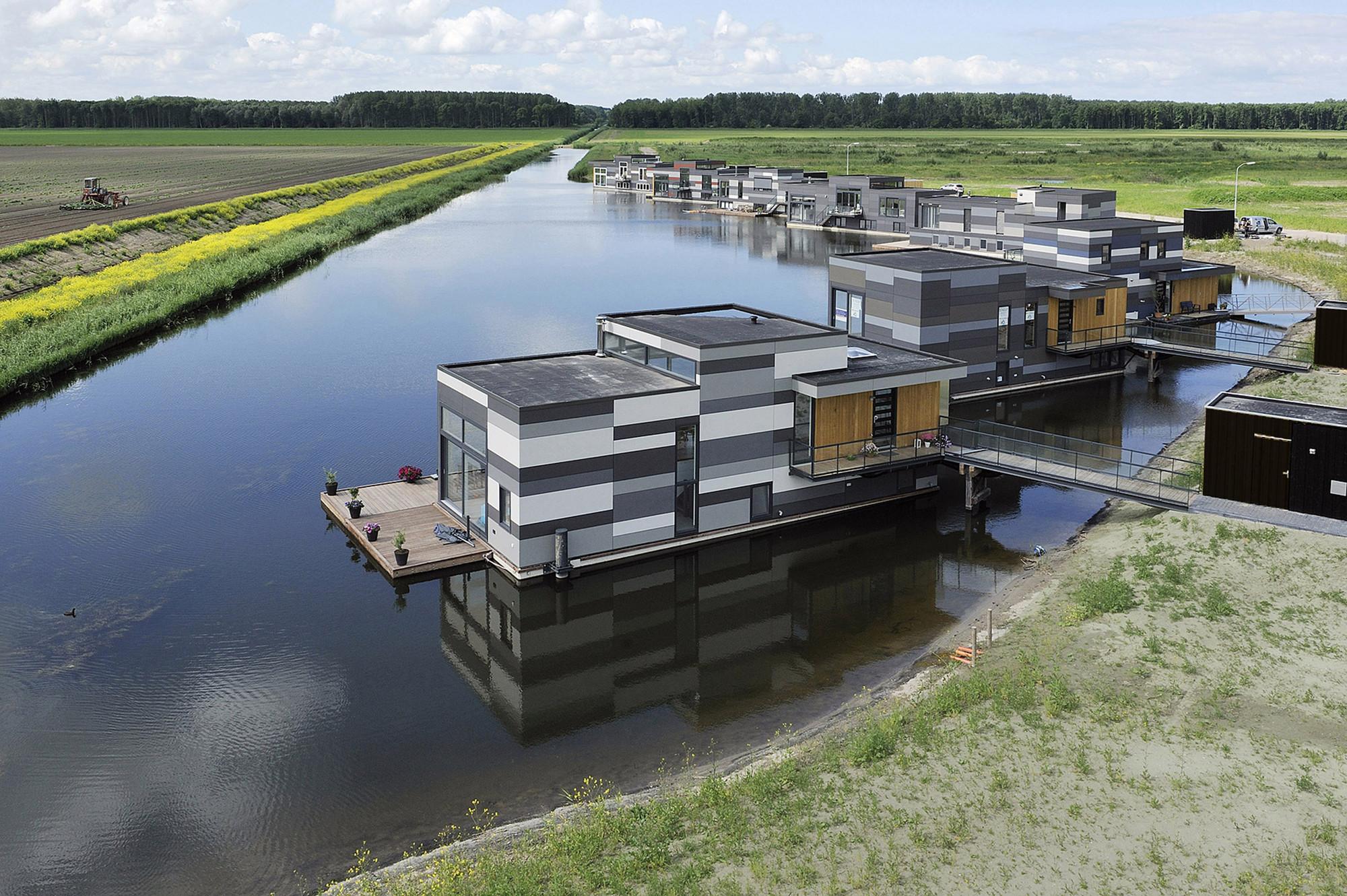 Casas Flutuantes em Lelystad / Attika Architekten, © ABC Arkenbouw