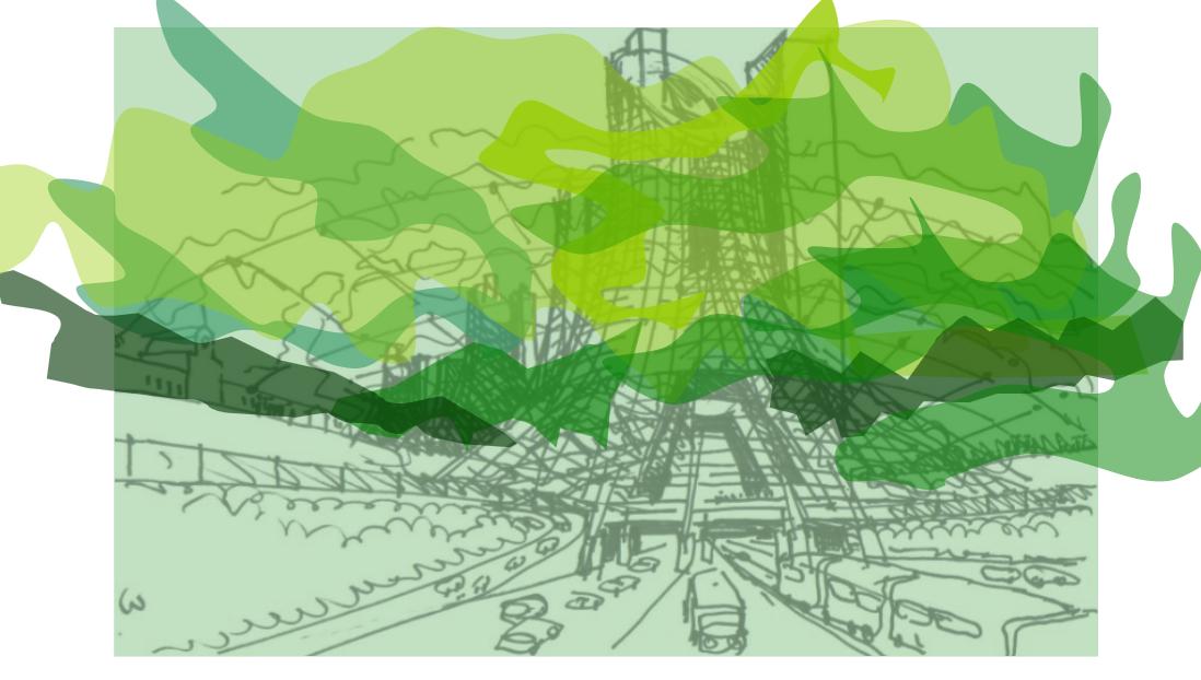 Propuesta de Cristián Boza para la Refundación de la Autopista Norte-Sur en Santiago de Chile, Anteproyecto Refundación Autopista Norte-Sur, Versión 2013 / Imágenes Preliminares. Image Cortesia de Boza + Boza Arquitectos