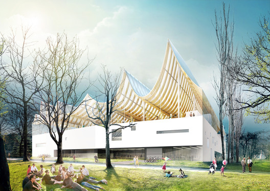 Liget Budapest Competition Entry (click for more). Image © Fundamental
