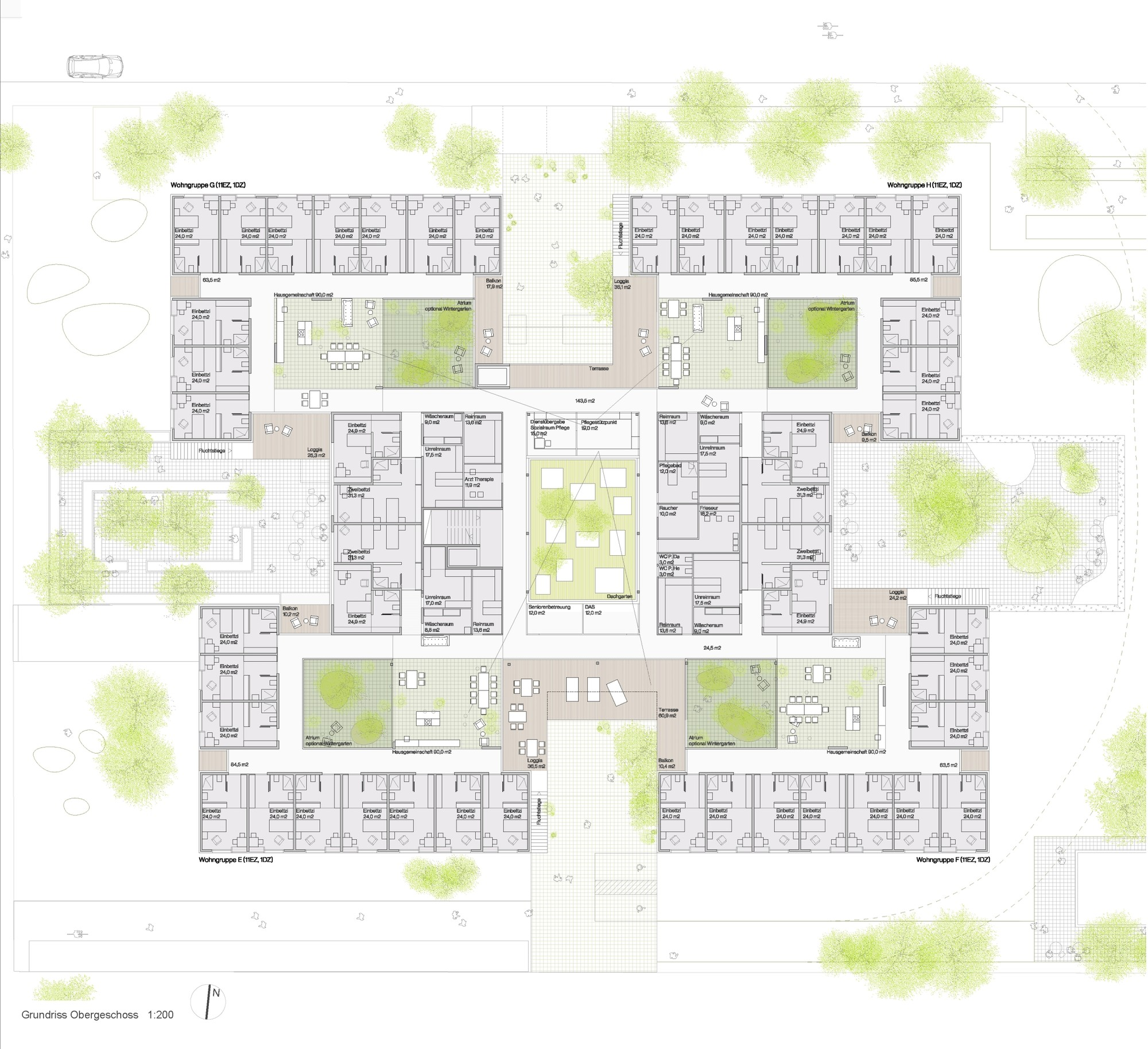 Gallery of peter rosegger nursing home dietger wissounig for City home plans