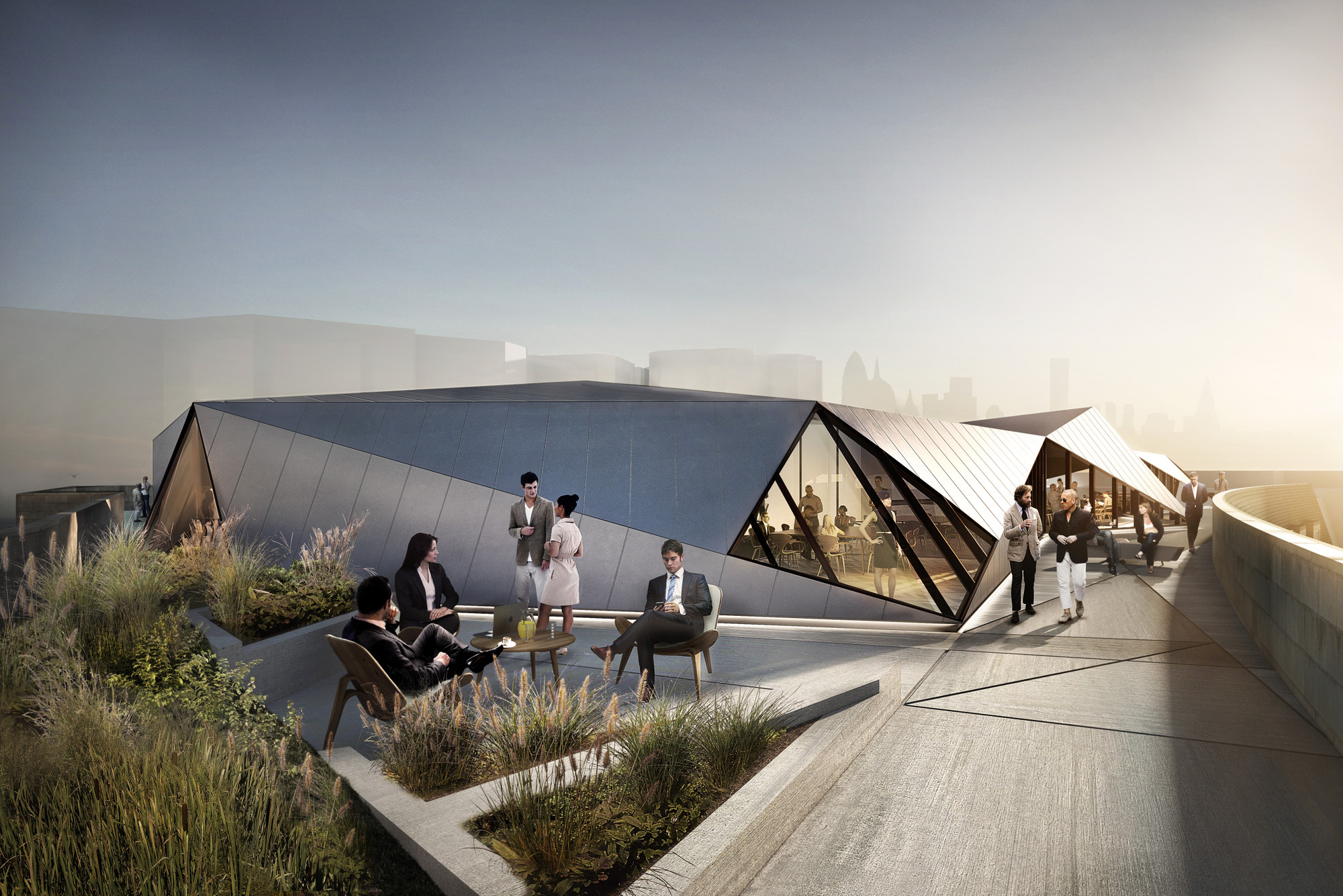Roof Top Design sheppard robson designs rooftop pavilion for aldwych house | archdaily