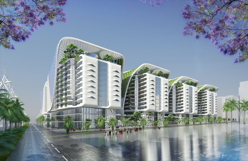 Vincent Callebaut Designs Sustainable Mixed-Use Complex for Cairo
