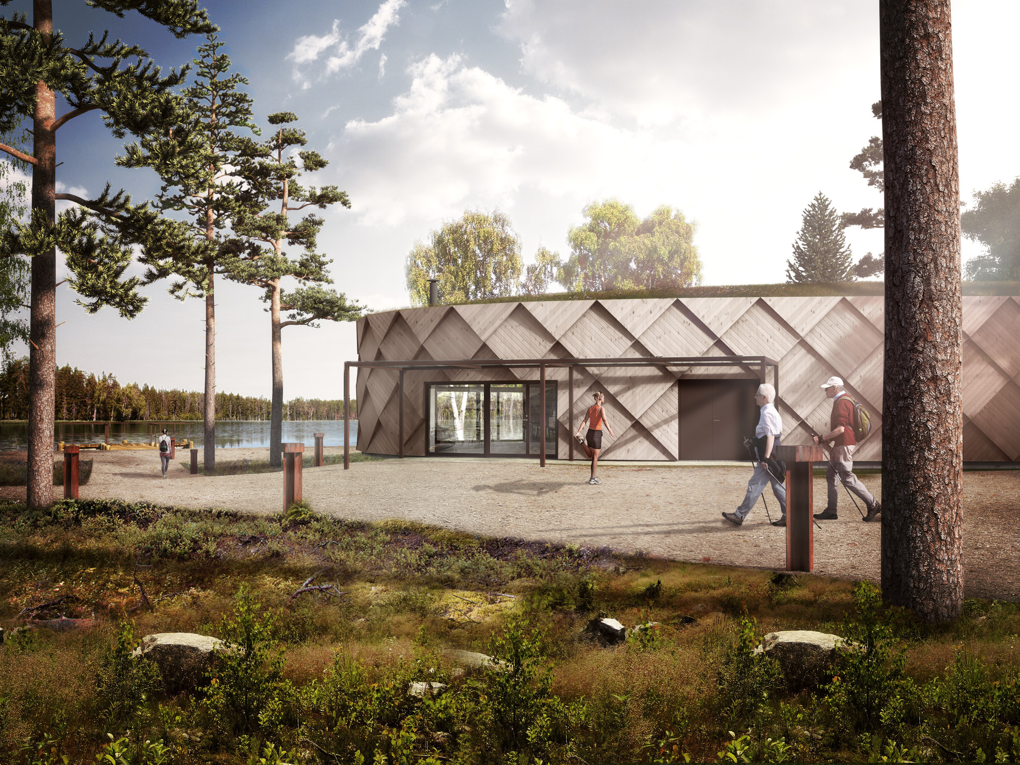 Tengbom Prepares to Break Ground on New Trail Center in Kungälv, © Tengbom