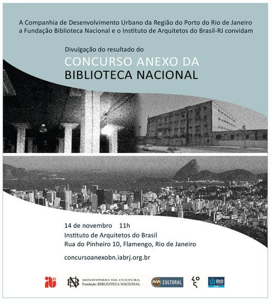 Divulgação do resultado do Concurso Anexo da Biblioteca Nacional, Cortesia de IAB-RJ