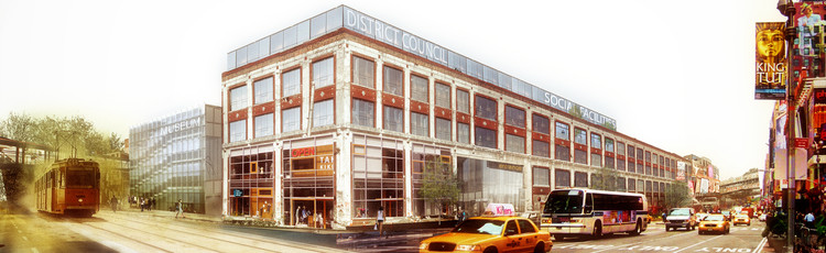 Nadau Architects Present Proposal to Revitalize Detroit's Decaying Packard Plant, Courtesy of Nadau Lavergne Architects