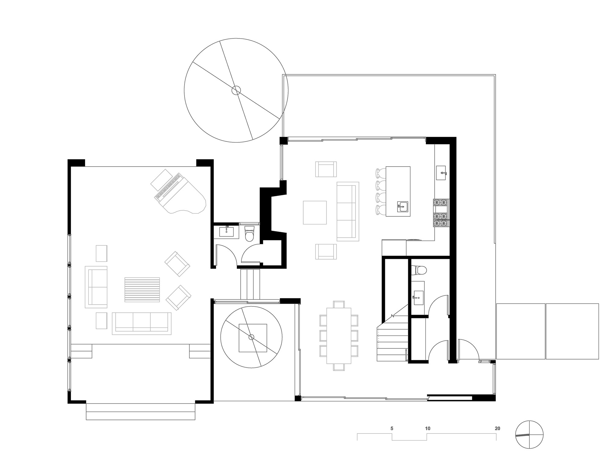 Oak pass guest walker workshop archdaily for Guest house floor plan
