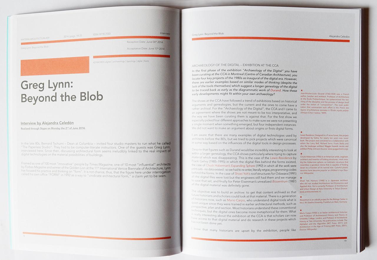 Revista materia arquitectura 09 plataforma arquitectura for Arquitectura materias