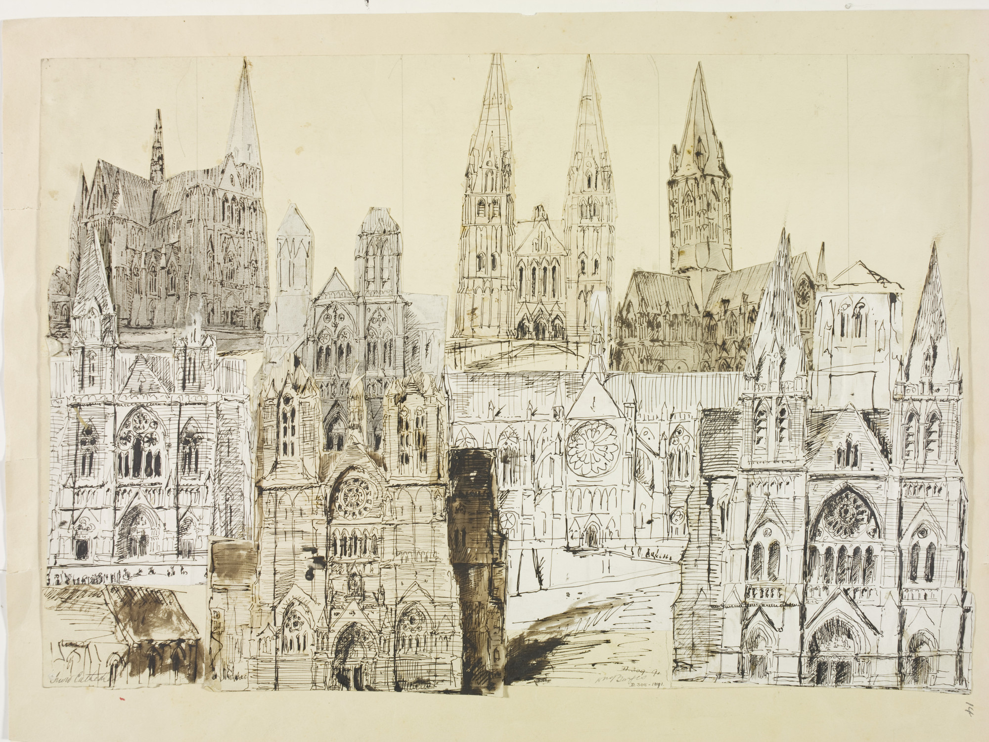 "V&A and RIBA Present ""Architects as Artists"", Designs for Truro Cathedral, 1878   Artist: William Burges. Image Courtesy of Victoria and Albert Museum, London"