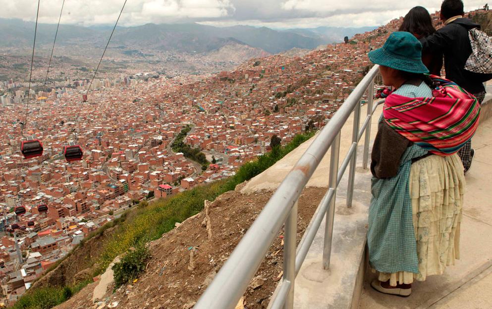 La Paz e o teleférico urbano mais alto do mundo, Cortesia de Fonte:  Bolivia.com