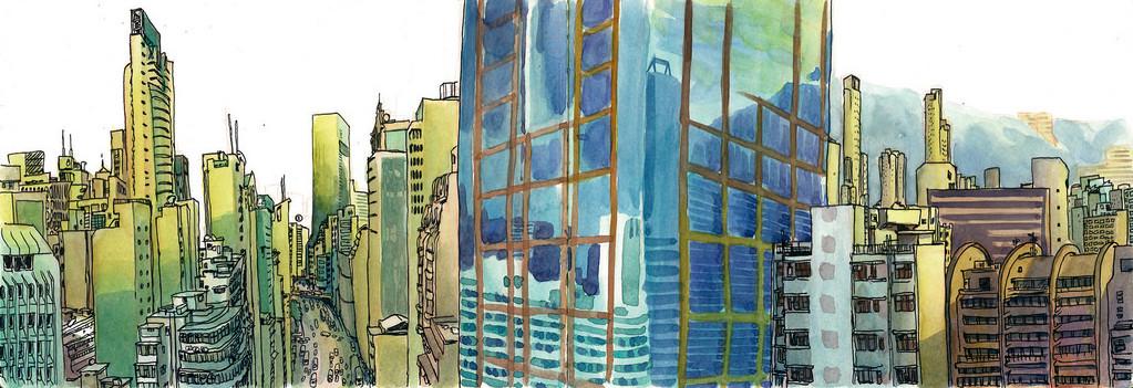 Designer português registra sua viagem pelo mundo através de desenhos, Hong Kong. Image Cortesia de Luís Simões