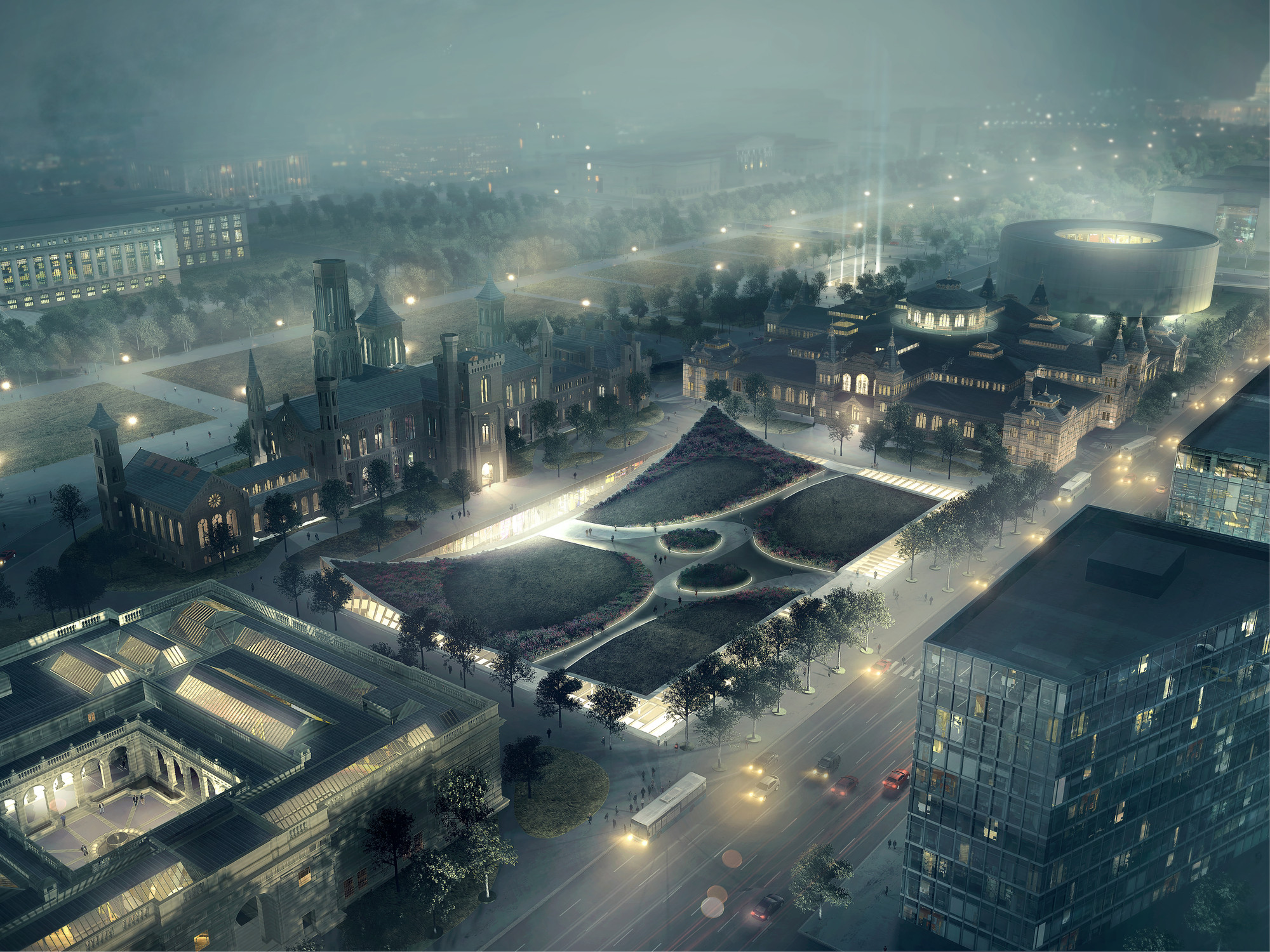BIG divulga masterplan para o Smithsonian Campus em Washington DC, © BIG